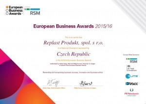 EBA certifikát